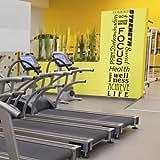 Full Wall Motivational Inspirational Fitness Decal Mural