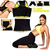 Full Body Slimming Shaper 3 Pc Set - Vest, Waist Belt, And Pants - Shaping Neotex Trimmer For Weight Loss - Detox...
