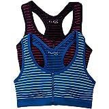 Flex Juniors 2PK Zipper Front Sports Bra