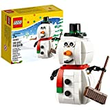 Lego Year 2014 Seasonal Series 4 Inch Tall Figure Set #40092 - Christmas SNOWMAN With Hat Scarf Carrot Nose And...