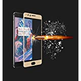 OnePlus 5, Premium Perfect Fit (GOLD) Full Glass 2.5D Curved 9H Anti-Fingerprints & Oil Stains Coating Hardness Screen Protector Guard For OnePlus 5