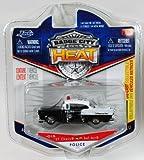 Jada Badge City Heat Police '57 Chevy Bel Air Black/White #015