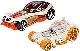 Hot Wheels Star Wars Character Car BB-8 & Poe Dameron (2 Pack) by Hot Wheels