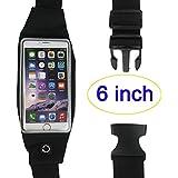 Running Belt Waist Pack,Novpeak Outdoor Sweatproof Reflective Belt Waist Bag For For IPhone6/6S Plus&Android Smartphones...