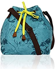 Turquoise Blue Bucket Sling Bag