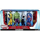 Marvel Titan Hero Series 6 Pack With Armored Spider-Man Captain America Iron Man Hulk Thor Wolverine