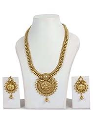 Ethnic Traditional Fashion Gold Plated Kundan Polki Necklace Earrings Jewelry Bridal Set