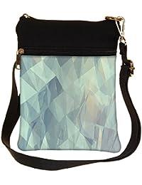 Snoogg Paper Shapes Cross Body Tote Bag / Shoulder Sling Carry Bag