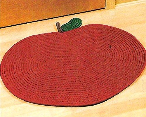 Apple Shape Braided Rug