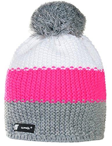 Unisex Wollig Wurm Winter Beanie Hat Hats Rino Damen Herren Strickmütze (Fluocco 107)