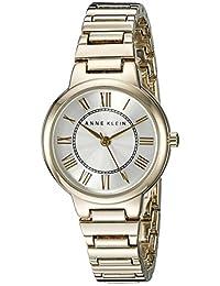 Anne Klein Women's AK/2034SVGB Gold-Tone Bracelet Watch