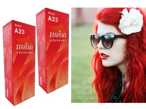 5 Set Berina Hair Color Cream Hair Dye Bright Red Color A23