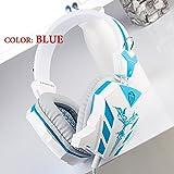 CD-618 3.5MM KaoShi Gaming Headphone Earphones Headphones Headset With Microphone Light Blue Blue
