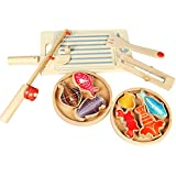 Generic Kids Children Pretend Play Wooden Magnitic Fishing Tools & Fishes Toy Gift