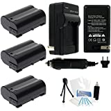 3-Pack EN-EL15 High-Capacity Replacement Batteries With Rapid Travel Charger For Select Nikon Digital Cameras....