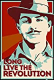 Seven Rays Bhagat Singh - Long live the revolution (Small) Poster
