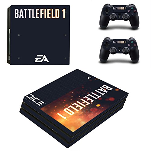 Hytech Plus Battlefield 1 Special Edition Theme Sticker For PS4 PRO Console & 2 Controllers