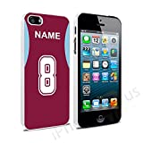 West Ham Colours Personalised Football Shirt, Any Name, Any Number Snap-on Hard Back Case Cover for Apple iPhone 5 5s SE By iPhone R Us®