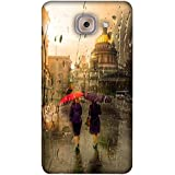 PrintVisa Designer Back Case Cover For Samsung Galaxy On Max (Brown Yellow Purple Red Umbrella)