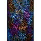 Twin Blue Tie Dye Bohemian Tapestry Elephant Star Mandala Tapestry Tapestry Wall Hanging Boho Tapestry Hippie...