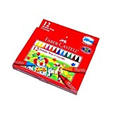 RCECHO® Faber Castell Playing & Learning Crayons Jumbo Wax Crayons 12 122512 PB528 With RCECHO® Fu