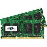 Crucial 8GB Kit (4GBx2) DDR3 1600 MT/s (PC3-12800) CL11 SODIMM 204-Pin 1.35V/1.5V Notebook Memory Modules CT2CP51264BF160B
