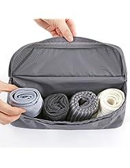 Shopaholic Travel Toiletry Bag Underwear Divided Pouch Makeup Organizer Waterproof Bra Sorting Bag Brand Beautician... - B01KXDO8OM