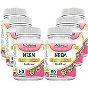Morpheme Neem 500mg Extract 60 Veg Caps - 6 Bottles