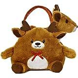 Aurora World Fancy Pals Toy Pet Carrier Plush, Reindeer