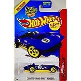 2015 Mattel Hot Wheels Hw Race Corvette Grand Sport Roadster Purple W/ Yellow Chassis Racing Version Yellow 5...