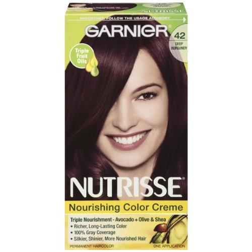 Garnier Nutrisse Hair Color, 42 Deep Burgundy Black Cherry