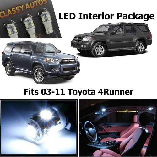 Classy Autos Toyota 4Runner White Interior LED Package (10 Pieces)