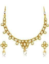 Sukkhi Marvellous Gold Plated Kundan Necklace Set For Women