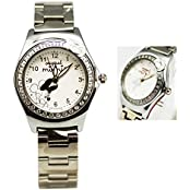 Disneys Minnie Mouse Stainless Steel White Dial Face Watch (25mm)