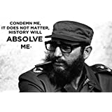 Fidel Castro Poster For Office And Kids Room - 100yellow