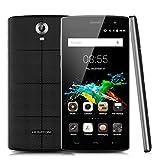 "HOMTOM HT7 - Smartphone Libre Android 5.1 (Quad Core, Pantalla 5.5"", IPS 1280*720 HD, 1GB RAM, 8GB ROM, Cámara 5.0MP, Dual SIM, Smart Wake) Negro"