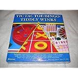 Classic Games Tic Tac Toe/Bingo/Tiddly Winks By Pressman Toy