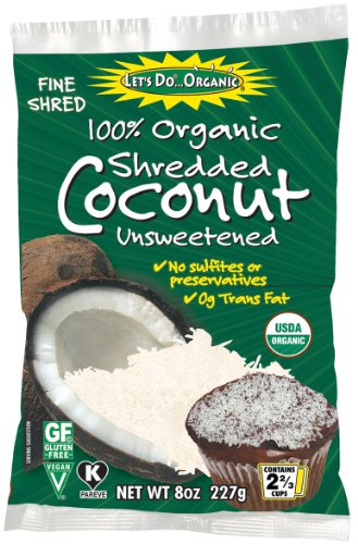 Make Make quick and easy Gluten Free Coconut Macaroons cookies with Let's Do Organic Shredded, Unsweetened Coconut