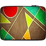 Snoogg Pastel Geometric Shapes 2677 12 To 12.6 Inch Laptop Netbook Notebook Slipcase Sleeve