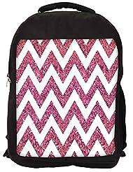 Snoogg Chevron Pinks Backpack Rucksack School Travel Unisex Casual Canvas Bag Bookbag Satchel
