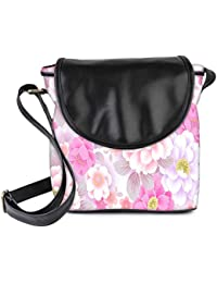 Snoogg Floral Background Womens Sling Bag Small Size Tote Bag