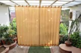 HIPPO Outdoor Curtains - Beige Colour - Full Size (2 Nos. x 4.0 Ft x 7.5 Ft)