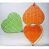 Tri Colour---Phir Bhi Dil Hai Hindustani Basket---Heart Shaped Beautiful Basket With Hinged Lid Heart Shaped Woven...