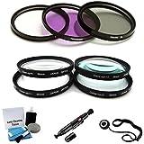 46mm Filter Kit (UV CPL FLD) & Close-Up Macro Filter Set (+1 +2 +4 +10) For Nikon DL18-50 F/1.8-2.8 Digital Camera...