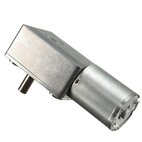 Alcoa Prime DC 12V 2~3W Low Speed 0. 6RPM/Min High Torque Turbo Worm Geared Motor 370 Motor 80x32x21mm