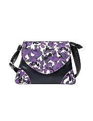 Hawai Navi Blue & Violet Small Sling Bag