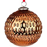 EarthenMetal Handcrafted Bronze Coloured Christmas Glass Decoratives / Hanging Ball-6 Inch