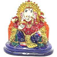 "3"" Rajasthani Handicraft Turban Ganesha / Meenakari Painting Ganesha / Hand Made Ganesha / Show Piece Ganesha..."