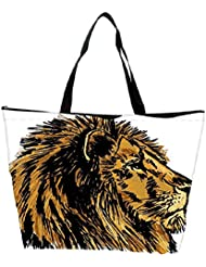 Snoogg Sketch Of A Big Male African Lion Vector Illustration Waterproof Bag Made Of High Strength Nylon