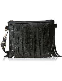 Lino Perros Women's Sling Bag (Black) - B01MRKSXEB